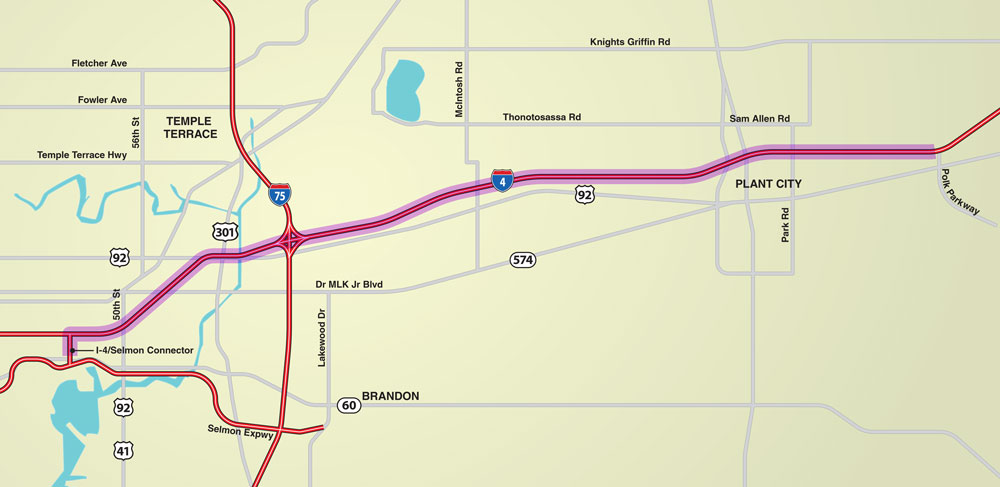 Tampa Bay Next - I4-Connector - Map